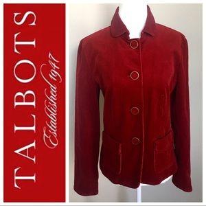 NEW Talbots Corduroy Red BLACER Jacket